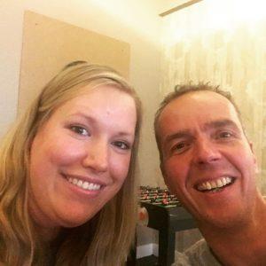 Een foto van Manon en Rob tijdens hun ontmoeting vorige week.