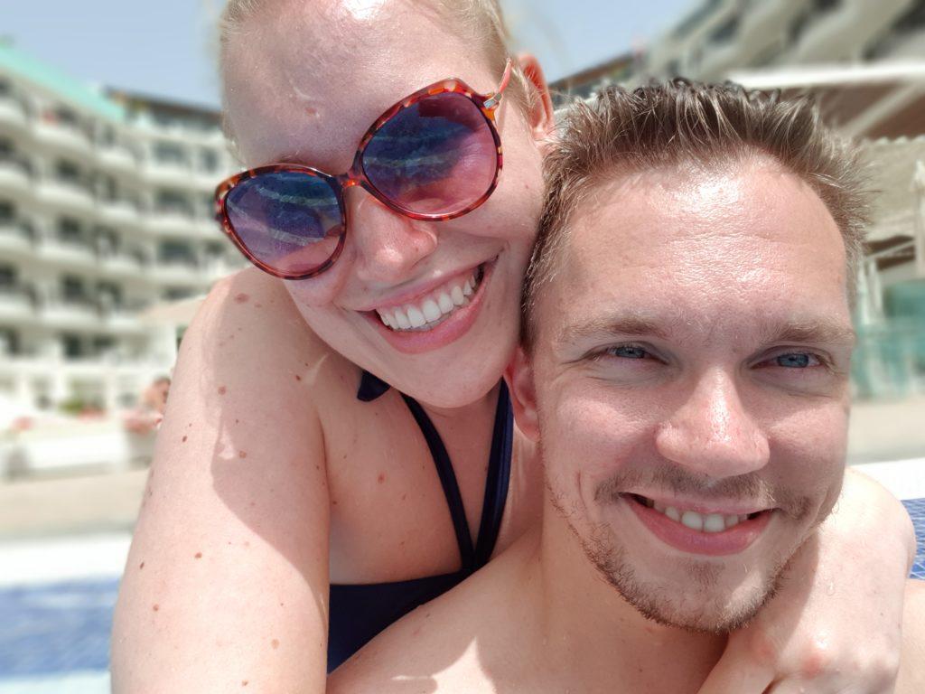 Manon en Stijn op vakantie op Tenerife.