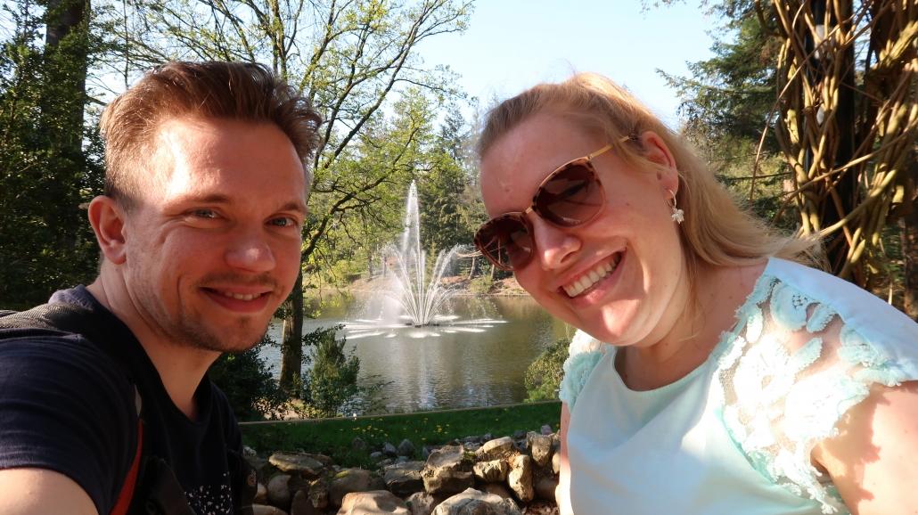 Manon en haar vriend in Natuurpark Berg & Bos in Apeldoorn