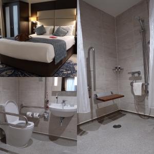 Aangepaste hotelkamer in Mercure Edinburgh Haymarket Hotel.